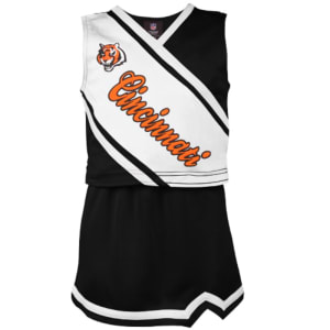Cincinnati Bengals Girls Youth 2-Piece Cheerleader Set - Black