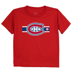 Montreal Canadiens Old Time Hockey Preschool Striped Logo T-Shirt - Red