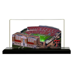 """Texas Tech Red Raiders 13"""" x 6"""" Light Up Stadium With Display Case"""