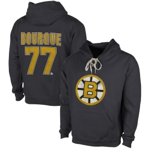 Ray Bourque Boston Bruins Old Time Hockey Malcolm Skate Lace Alumni Hoodie - Heather Gray