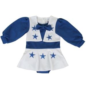Dallas Cowboys Girls Infant Cheer Uniform - Royal Blue/White