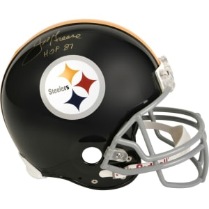 Joe Greene Pittsburgh Steelers Fanatics Authentic Autographed Riddell Pro-Line Authentic Throwback Helmet with HOF 87 Inscription