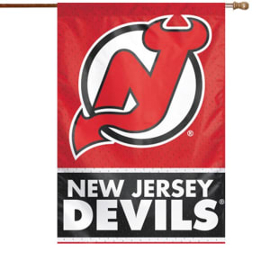 "New Jersey Devils WinCraft 28"" x 40"" Two-Sided Vertical Flag"