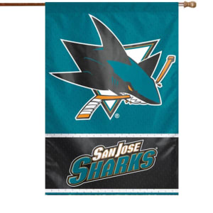 "San Jose Sharks WinCraft 28"" x 40"" Two-Sided Vertical Flag"