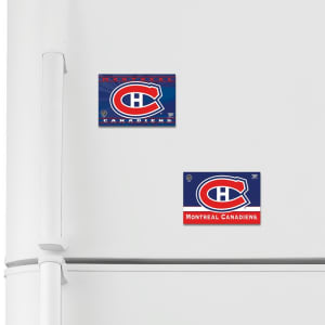 "Montreal Canadiens WinCraft 2-Pack of 2"" x 3"" Magnets"
