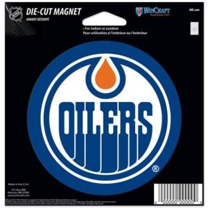 """Edmonton Oilers WinCraft 5"""" Die-Cut Car Magnet"""