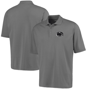 Penn State Nittany Lions Antigua Logo Grande Pique Polo - Gray