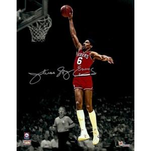 """Julius Erving Philadelphia 76ers Fanatics Authentic Autographed 11"""" x 14"""" Rising For Dunk Spotlight Photograph"""