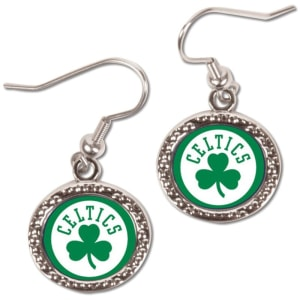 Boston Celtics WinCraft Women's Round Dangle Earrings