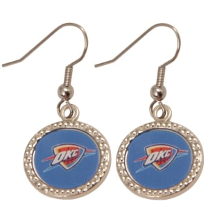 Oklahoma City Thunder WinCraft Women's Round Dangle Earrings