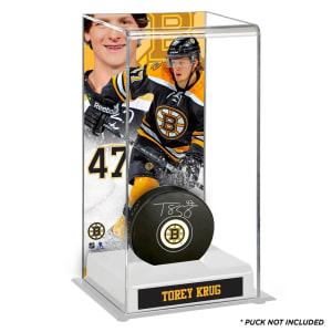 Torey Krug Boston Bruins Fanatics Authentic Deluxe Tall Hockey Puck Case