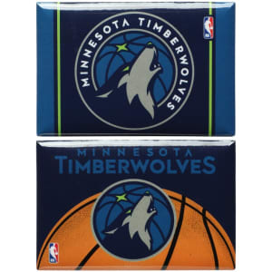 """Minnesota Timberwolves WinCraft 2-Pack of 2"""" x 3"""" Magnets"""