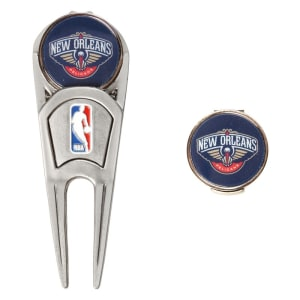 New Orleans Pelicans WinCraft Divot Tool, Ball Marker & Hat Clip Combo Gift Set
