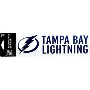 "Tampa Bay Lightning WinCraft 3"" x 10"" Logo Perfect Cut Decal"