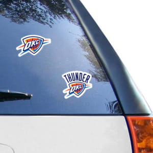 """Oklahoma City Thunder WinCraft 2-Pack 4"""" x 4"""" Decals"""