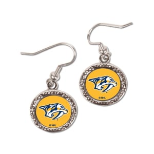 Nashville Predators WinCraft Women's Round Dangle Earrings