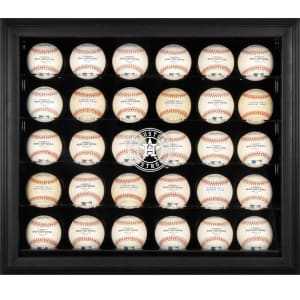 Houston Astros Fanatics Authentic (2013-Present) Logo Black Framed 30-Ball Logo Display Case