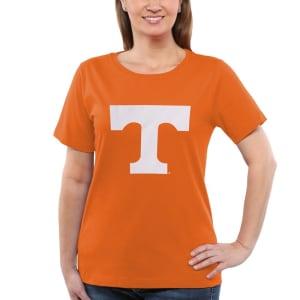 Tennessee Volunteers Women's Core Logo Too Relaxed T-Shirt - Tenn Orange