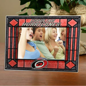 Carolina Hurricanes New Art Glass Horizontal Frame