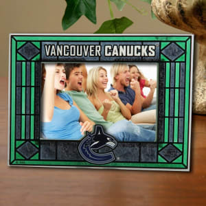 Vancouver Canucks New Art Glass Horizontal Frame