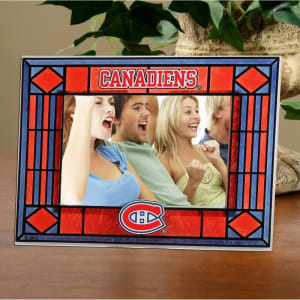 Montreal Canadiens New Art Glass Horizontal Frame