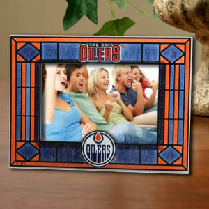 Edmonton Oilers New Art Glass Horizontal Frame