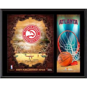 """Atlanta Hawks Fanatics Authentic 12"""" x 15"""" Sublimated Team Logo Plaque"""