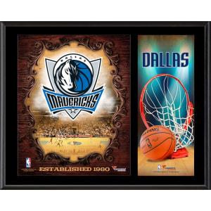 "Dallas Mavericks Fanatics Authentic 12"" x 15"" Sublimated Team Logo Plaque"