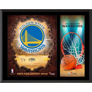 "Golden State Warriors Fanatics Authentic 12"" x 15"" Sublimated Team Logo Plaque"