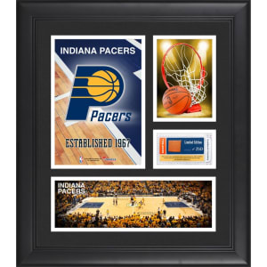 "Indiana Pacers Fanatics Authentic Framed 15"" x 17"" Team Logo Collage with Team-Used Basketball - Limited Edition of 250"