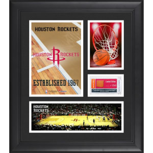 "Houston Rockets Fanatics Authentic Framed 15"" x 17"" Team Logo Collage with Team-Used Basketball - Limited Edition of 250"