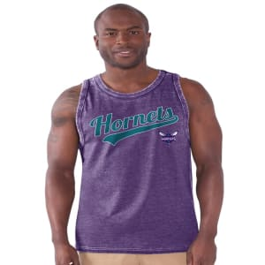 Charlotte Hornets Pinch Hitter Loose Fit Tank Top - Purple