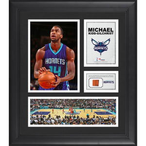 "Michael Kidd-Gilchrist Charlotte Hornets Fanatics Authentic Framed 15"" x 17"" Collage with Team-Used Ball"