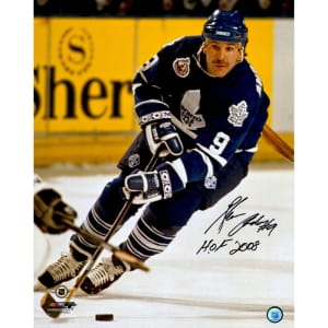 "Glenn Anderson Toronto Maple Leafs Fanatics Authentic Autographed 16"" x 20"" Skating With Puck Photograph with ""HOF 2008"" Inscription"