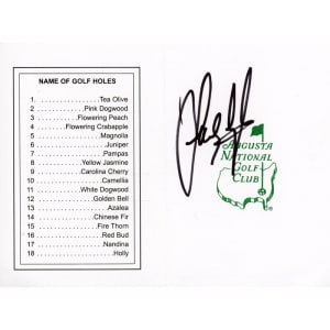 Sandy Lyle Fanatics Authentic Autographed Masters Scorecard