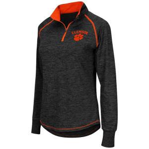 Clemson Tigers Colosseum Women's Bikram 1/4 Zip Long Sleeve Jacket - Black