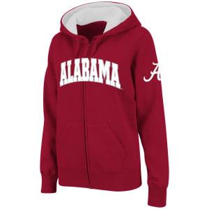 Alabama Crimson Tide Stadium Athletic Women's Arched Name Full-Zip Hoodie - Crimson