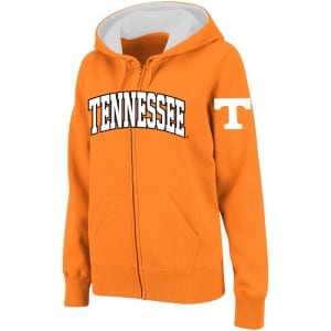Tennessee Volunteers Stadium Athletic Women's Arched Name Full-Zip Hoodie - Tennessee Orange