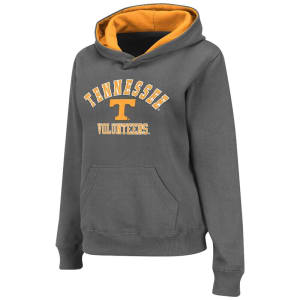 Tennessee Volunteers Stadium Athletic Women's Arch & Logo II Hoodie - Charcoal