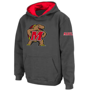 Maryland Terrapins Stadium Athletic Youth Big Logo Pullover Hoodie - Charcoal