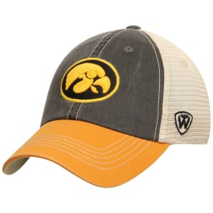 Iowa Hawkeyes Top of the World Offroad Trucker Adjustable Hat - Black