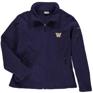 Washington Huskies Columbia Women's Plus Size Give and Go Jacket - Purple