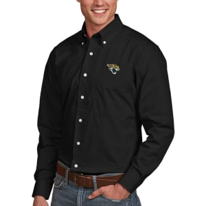 Jacksonville Jaguars Antigua Dynasty Woven Long Sleeve Shirt - Black