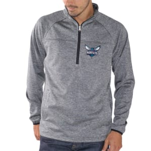 Charlotte Hornets G-III Sports by Carl Banks Franchise Half-Zip Pullover Jacket - Charcoal