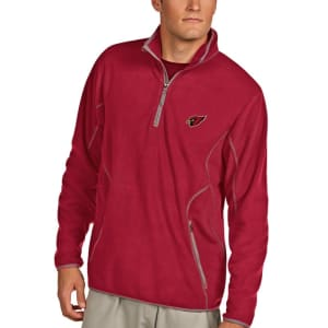 Arizona Cardinals Antigua Ice 1/4-Zip Microfleece Pullover Jacket - Cardinal