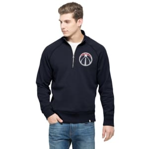 Washington Wizards '47 Cross Check Quater-Zip Pullover Jacket - Navy