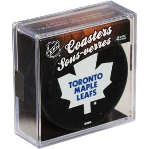 Toronto Maple Leafs 4-Pack Puck Coaster Set