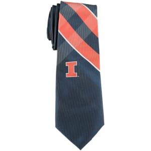 Illinois Fighting Illini Woven Poly Grid Tie