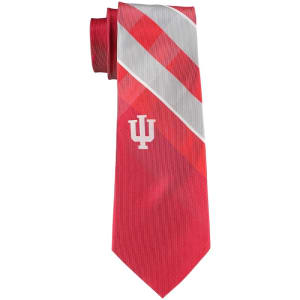 Indiana Hoosiers Woven Poly Grid Tie