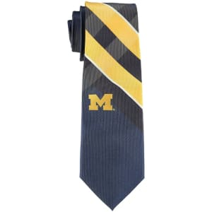 Michigan Wolverines Woven Poly Grid Tie